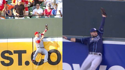 Kevin Kiermaier channeled his inner Mike Trout to scale Camden Yards wall and steal a home run