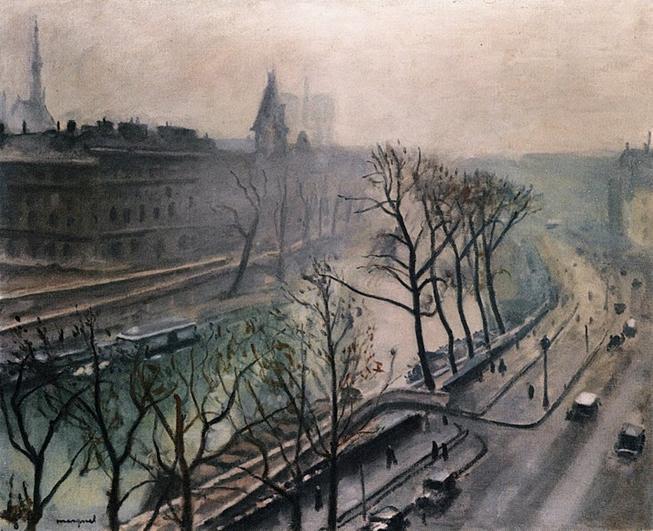 Ficheiro:Albert Marquet, 1938c - Paris, Quai des Grands Augustins, Twilight.jpg