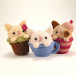 Cozy Cat Trio pattern by Sarah Sloyer