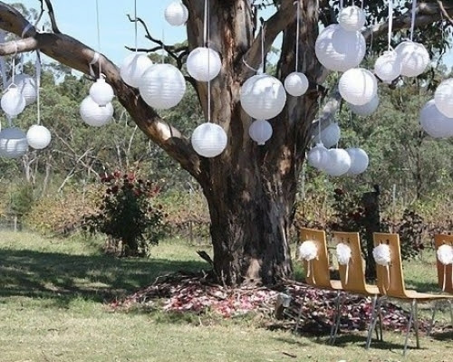 Outdoor tree decorations | Wedding Decor | Pinterest