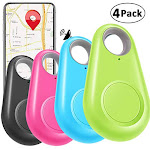 4 Pack Smart GPS Tracker Key Finder Locator Wireless Anti Lost Alarm Sensor Device for Kids Dogs Car Wallet Pets Cats Motorcycles Luggage Smart Phone