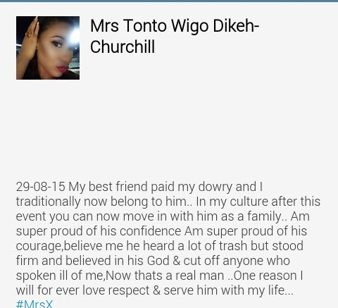 Tonto Dikeh: My Husband Heard A Lot Of Trash About Me But Still Married Me