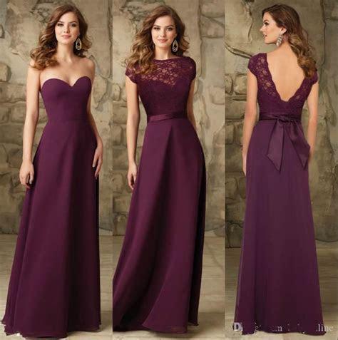 Chiffon Long Bridesmaids Dresses Backless Cheap Bridesmaid