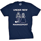 Crazy Dog T-Shirts Mens Under New Management Funny Wedding Bachelor Party Novelty Tee for Guys