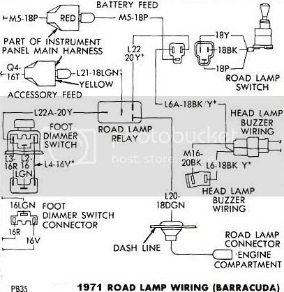 1970 Cuda Road Lamp Wiring Diagram Moparts Forums