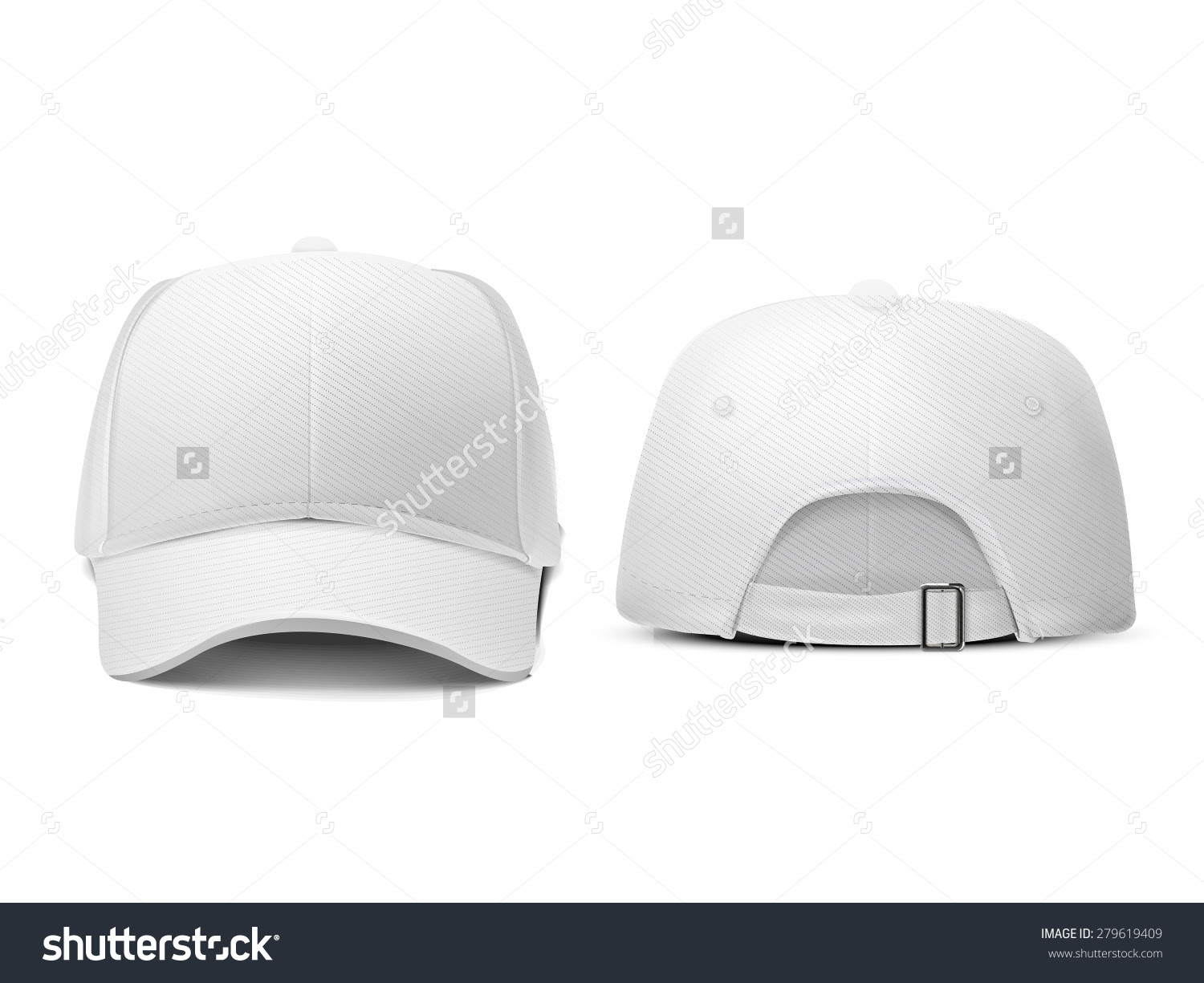 Blank Hat White Isolated On White Stock Vector 279619409 ...