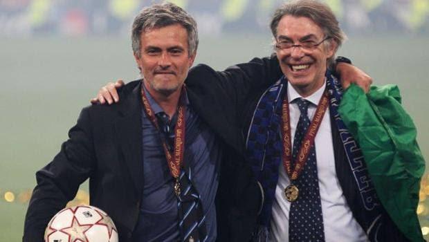 Massimo Moratti con José Mourinho.