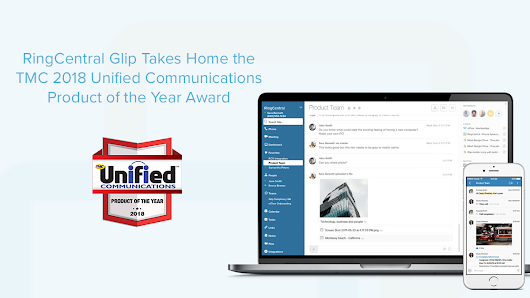 ringcentral glip takes home the tmc 2018 unified communications product of the year award ringcentral