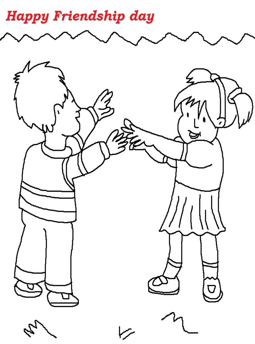- 12 Friendship Day Coloring Pages Printable Print Color Craft