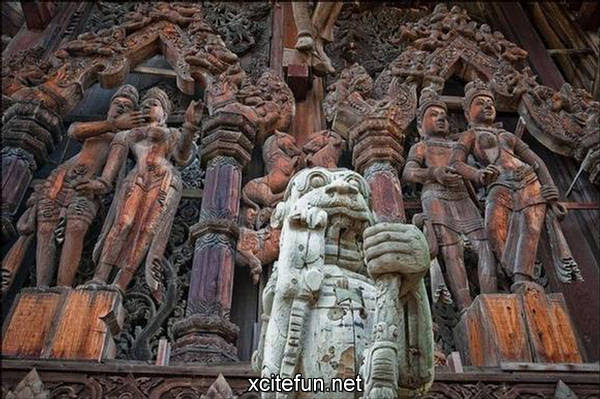 Temple of Truth  Traditional Wooden Sculpture