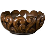 Uttermost Merida Wood Tone Decorative Bowl