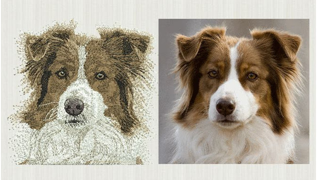 Dog Designs embroidery digitizing services
