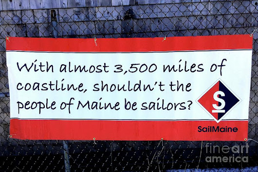 Sail Maine, Sign Outside The Sailing School by Patricia Sundik