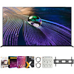 """Sony XR65A90J 65"""" OLED 4K HDR Ultra Smart TV (2021) + Movies Streaming Pack"""
