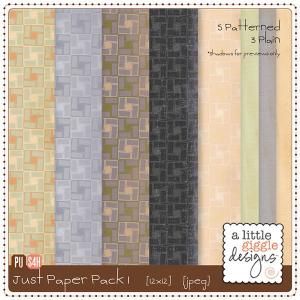 Just Paper - Pack 1 Digital Scrapbook Freebie