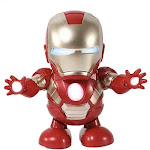 Dance Hero Avengers Iron Man Avengers Toys Dancing Robot Mini Dancing Iron Man LED Music Toy with Light Music Dancing - Best Gift