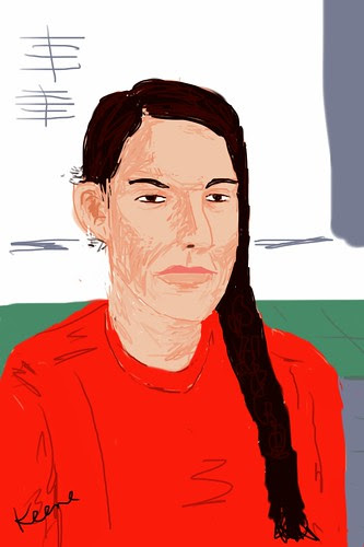 My iPhone sketch of Marina Abramovic