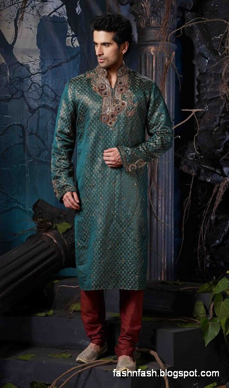 Kurtas Designs-Men-Male New Latest Silk-Cotton Kurta Style Design Collection2