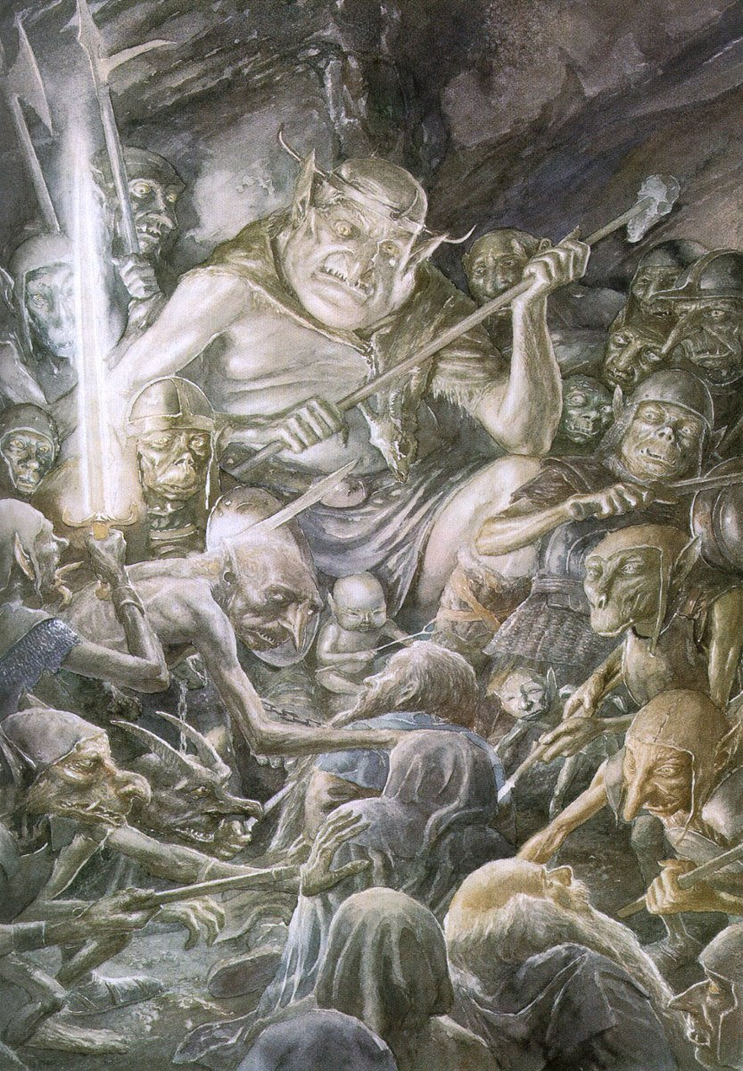 The Goblin King and his goblin horde