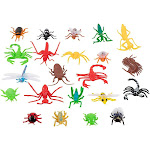 Juvale 22-Pack Assorted Plastic Bug Toys Insect Figures Fake Spider Cockroach for Kids, Multicolor