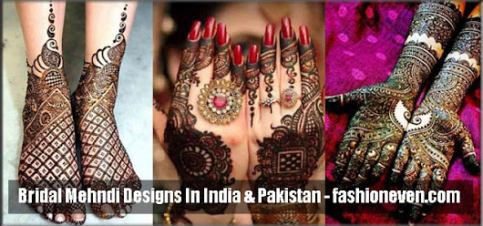 Best Bridal Mehndi Designs 2017 2018 For Wedding