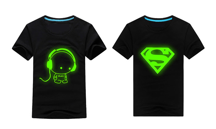 Juniors cheap t for print in glow shirts dark the without