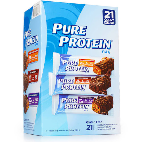 Wholesale Snacks Pure Protein Bars - 21ct - Variety Pack