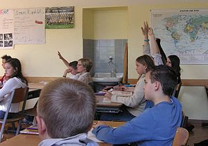 English: This is an example of a classroom fil...