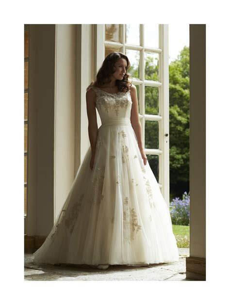 Romantica Sapphire Ballgown Style Wedding Dress Light Gold