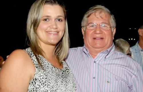 Ina Mulatinho com o líder político Abelardo Filho