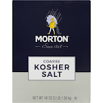 Morton Kosher Salt, Coarse - 48 oz