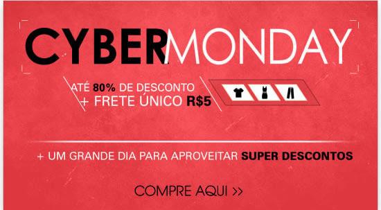 Cyber Monday até 80% de desconto + frete único R$ 5   + Um grande dia para aproveitar super descontos - Compre aqui