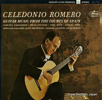ROMERO, CELEDONIO guitar music from the courts of spain