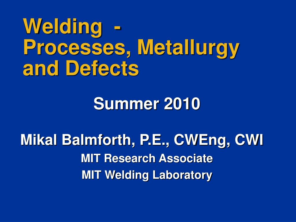 Solid-State Welding Processes PPT Presentation