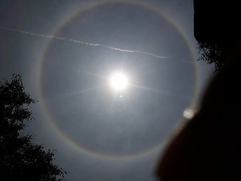 Xuất hiện quầng sáng kỳ lạ quanh Mặt trời tại Huế và Quảng Nam trong dịp Lễ Phật Đản - Ảnh 1.