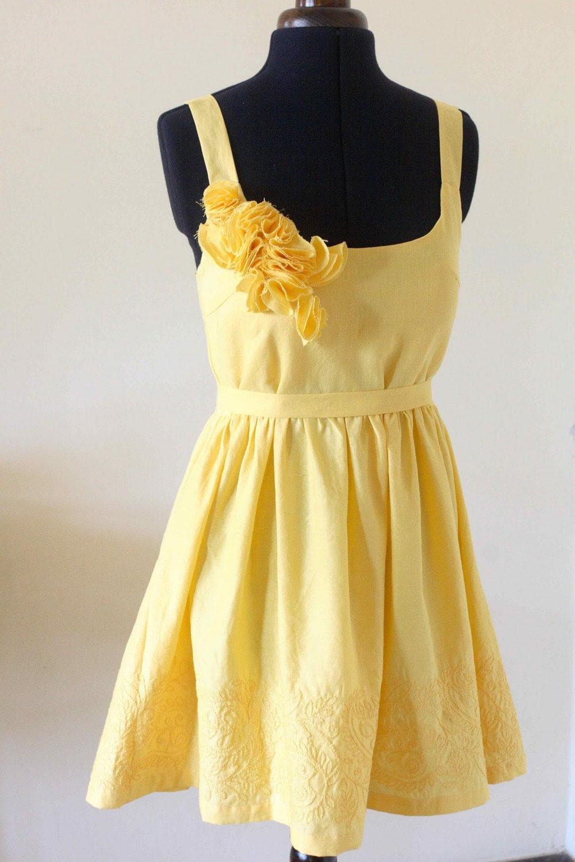 Sunflower Dress - custom made