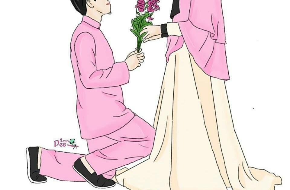 44 Top Gambar Animasi Muslimah Couple