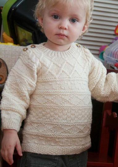 Free Knitting Pattern for Baby Gansey Sweater