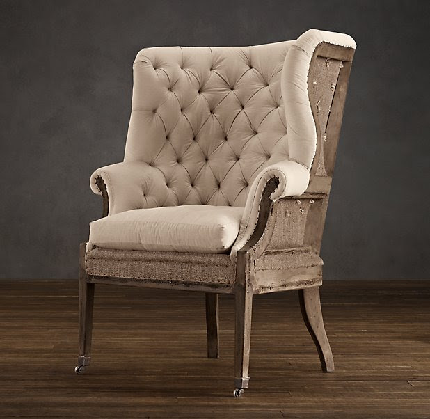 Deconstructed 19th C. English Wing Chair