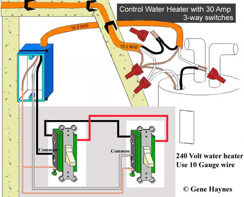 Control Water Heater Using 30 Amp Switch