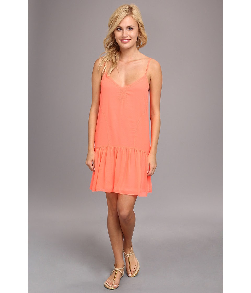 DV by Dolce Vita - Drop Waist Tank Dress (Neon Coral) Women's Dress