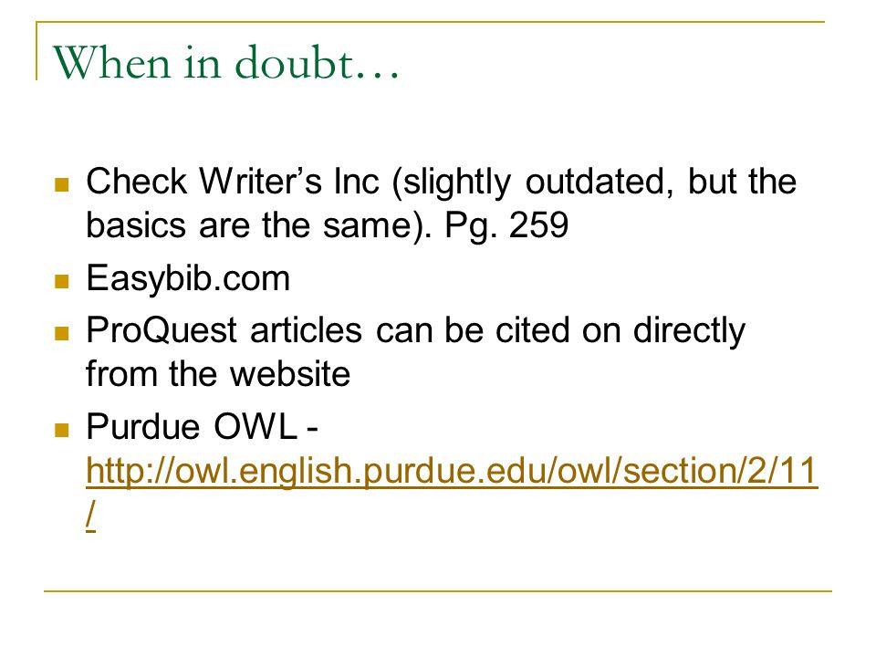 Easybib Essay Check
