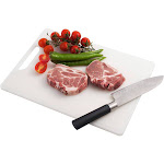 """Cutting Board for Kitchen by INNOKA ,Made by microbeFENCE Technology Plastic (BPA Free) - White (Dimension 14.57"""" x 10.43"""")"""
