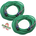 Speakon Cables 50 FT 2 Pack 12 AWG Wires –FAT TOAD Speaker Cords Pro Audio Stage