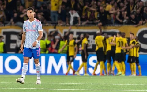 Ronaldo Reacts As Young Boys Defeat Man United