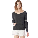 Alternative Maniac Sport Eco-Fleece Sweatshirt 2X Eco Black , Alternative Apparel