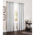 """Kashi Home White Erin Curtain Panel 55"""" x 84"""""""