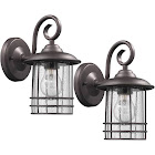 Chloe Lighting 1 Light Rubbed Bronze Outdoor Wall Sconce 10 Height, 2