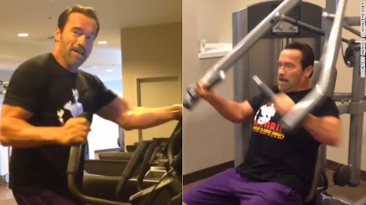 Arnold Schwarzenegger's tips for working out on the road