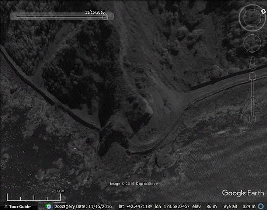 Google Earth imagery update, earthquake and fire - Google Earth Blog